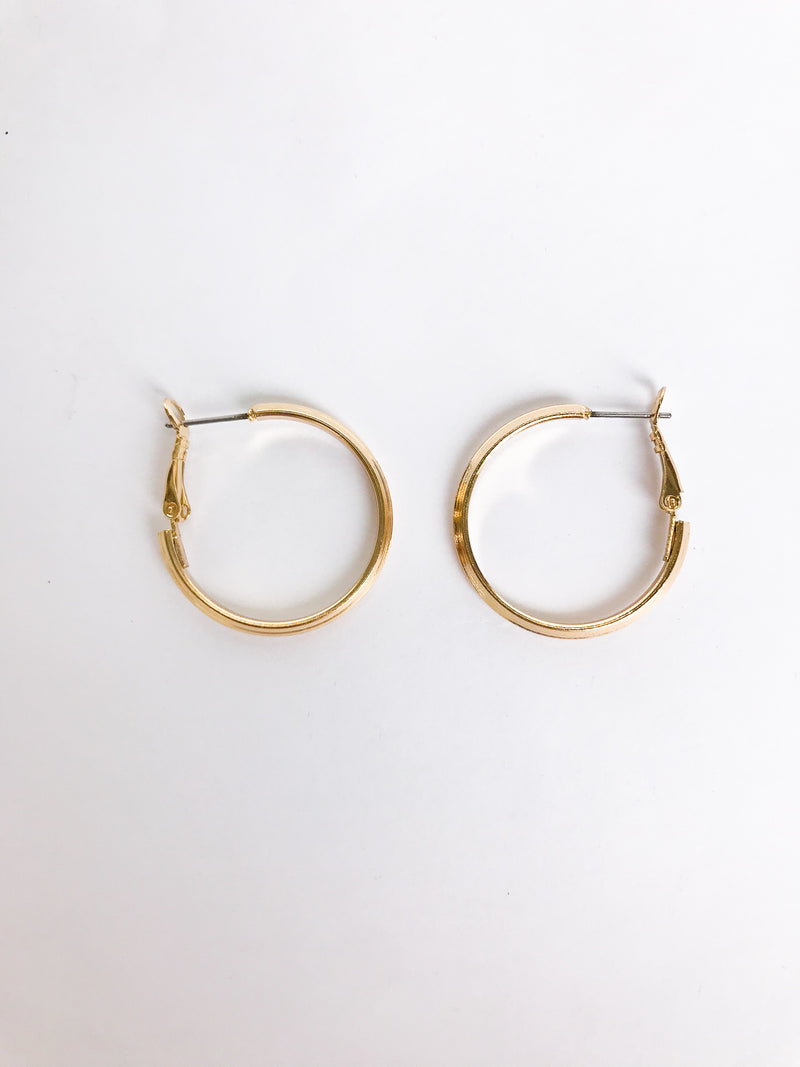 Mini Gold Hoop Earrings - Stitch And Feather