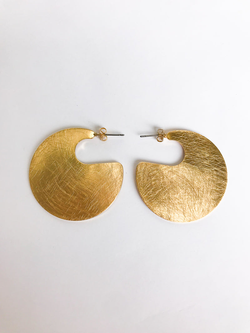 Abstract Plate Earrings