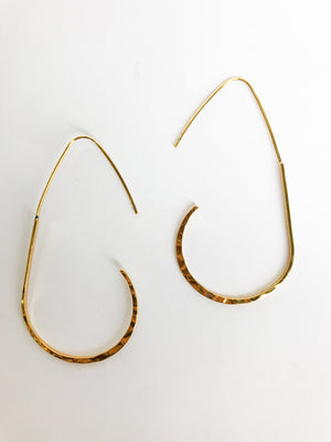 Hammered Hook Earrings - Stitch And Feather