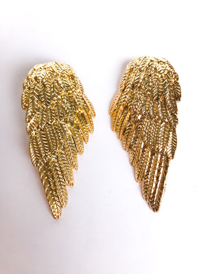 Angel Wing Earrings - Stitch And Feather