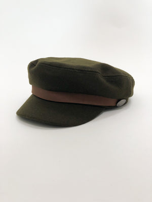 Olive Greek Fisherman Hat - Stitch And Feather