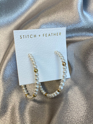 Allie Hoop Earring - Stitch And Feather