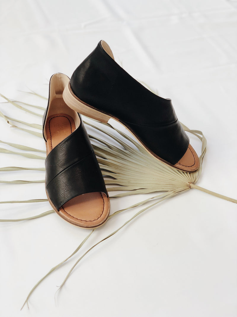 Lotus Side Slide Sandals - Stitch And Feather