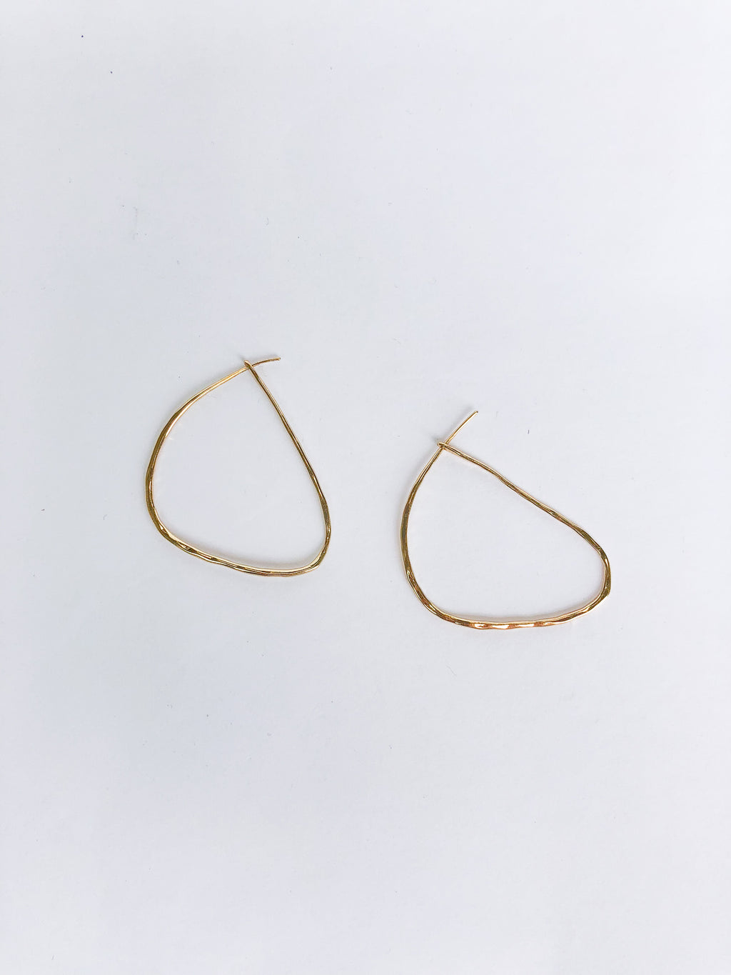 Hammered Hoop Earring - Stitch And Feather