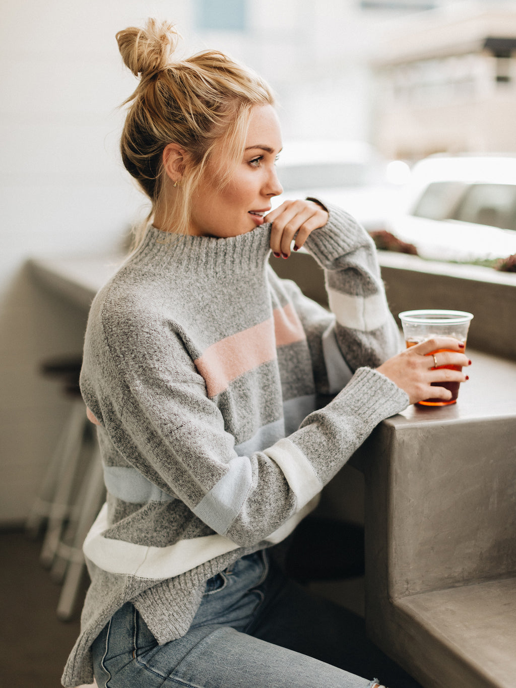 Just My Stripe Sweater - Stitch And Feather