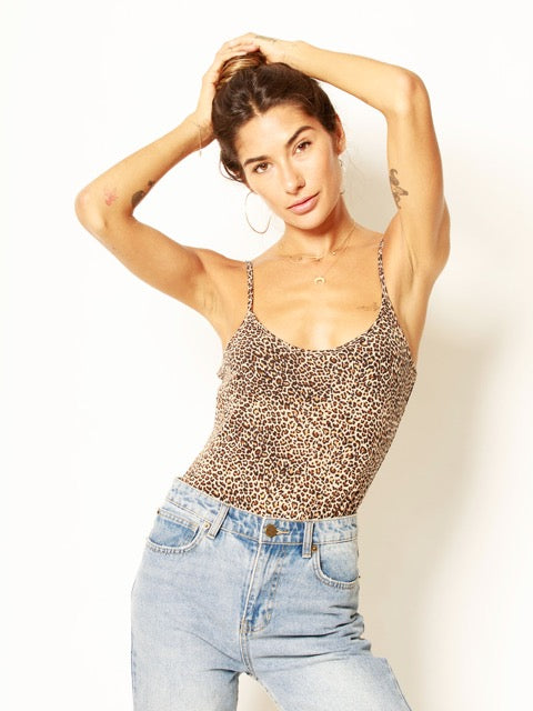 leopard, bodysuit, adjustable straps, t32077, taupe/black/brown, stretchy