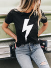 Lightning Bolt Tee - Stitch And Feather