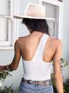 One-Shoulder Bodysuit in Frosting - Stitch And Feather