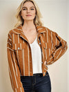 Oversized Striped Jacket Mustard - Stitch And Feather