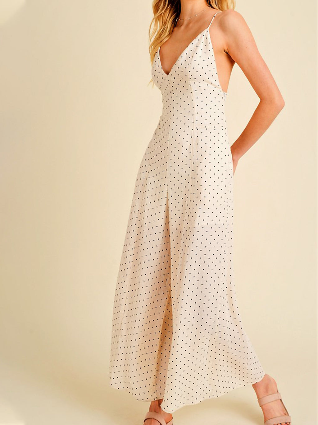 Darling Polka Dot Jumpsuit - Stitch And Feather
