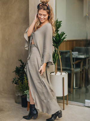 Ruffled Wrap Maxi Skirt - Stitch And Feather