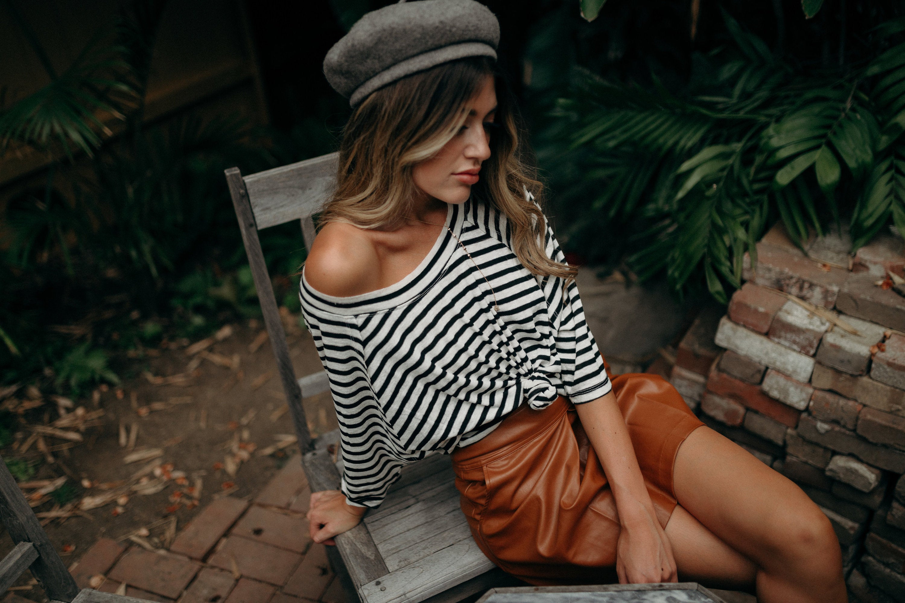 Amour Striped Top