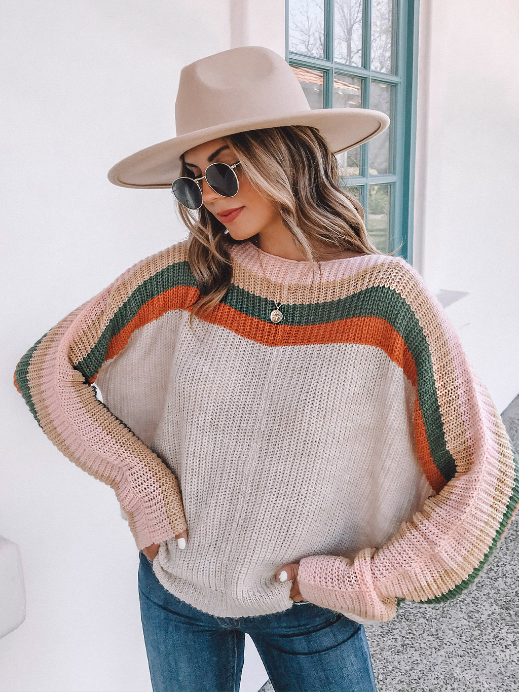 Stripe Me Sweater - Stitch And Feather