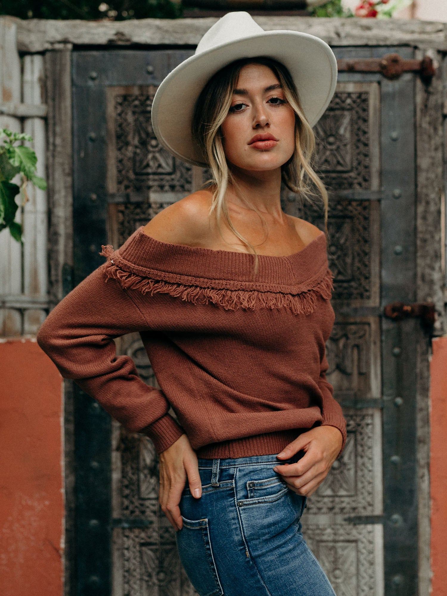 Natalie Fringe Sweater