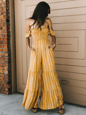 Seventies Stripe Jumpsuit - Stitch And Feather