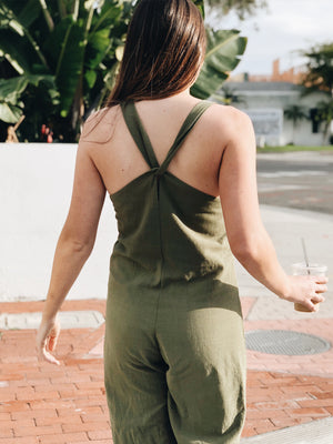Knot Your Babe Overall Jumpsuit - Stitch And Feather