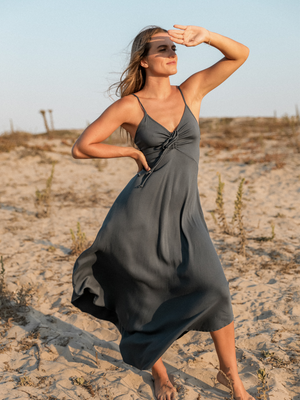 Sawyer Maxi Dress in Navy - Stitch And Feather