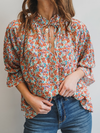 Betty Floral Top - Stitch And Feather