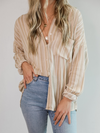 Brooke Striped Button Up - Stitch And Feather