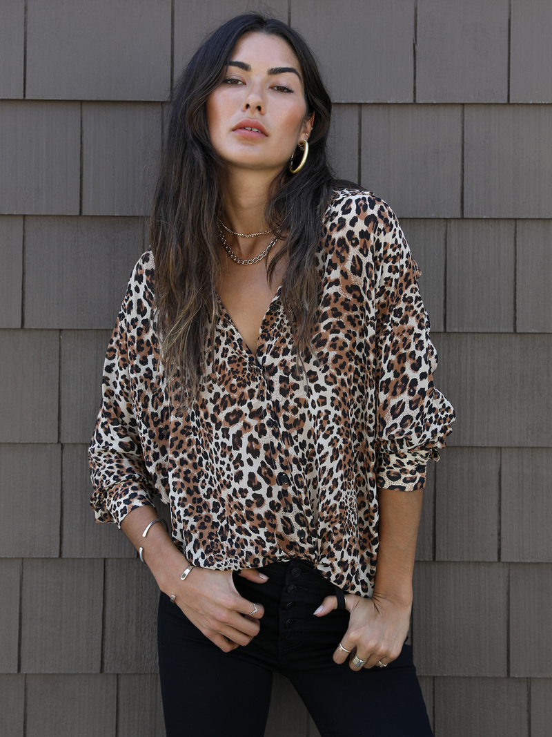 Wild Life Button Up Top - Stitch And Feather