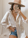 Dreamer Satin Button Up - Stitch And Feather