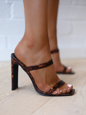 Dana Heels in Tortoise - Stitch And Feather