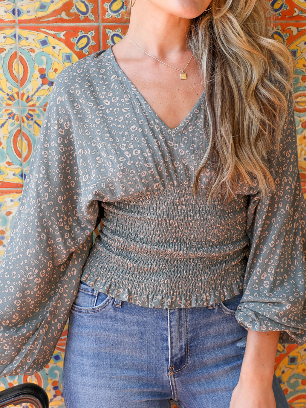 Paradise Top in Olive - Stitch And Feather