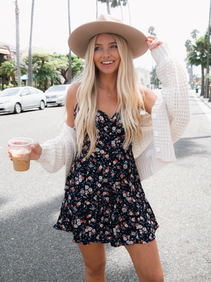Sutton Floral Mini Dress - Stitch And Feather