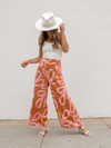 Retro Woven Pants - Stitch And Feather