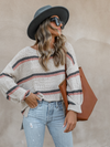 Over the Moon Stripe Sweater - Stitch And Feather