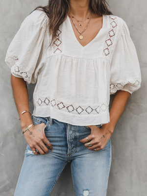 Big Sur Woven Top - Stitch And Feather