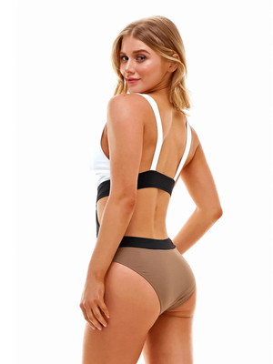 Brinley One Piece in Taupe - Stitch And Feather