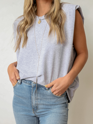 Muscle Tank in Grey - Stitch And Feather