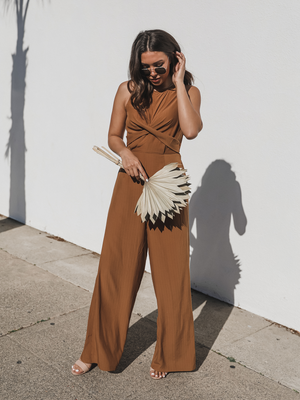 Leslie Open Back Jumpsuit - Stitch And Feather