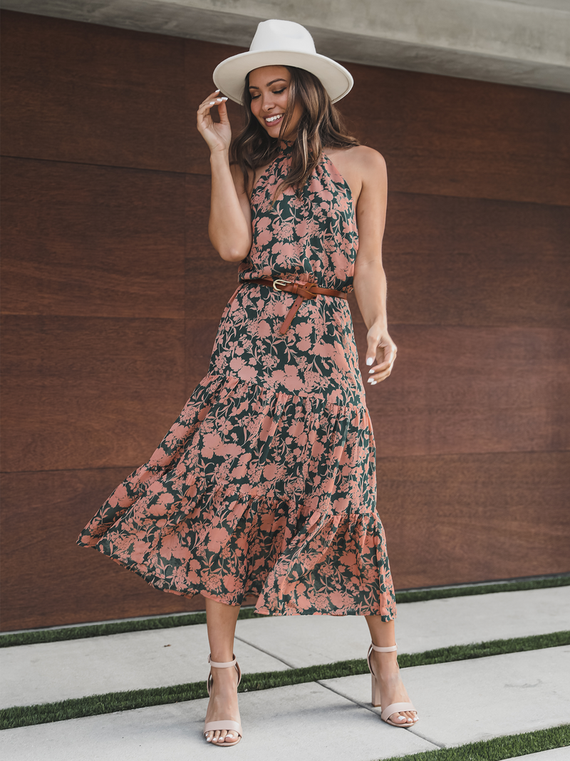 Freshly Picked Floral Midi Dress