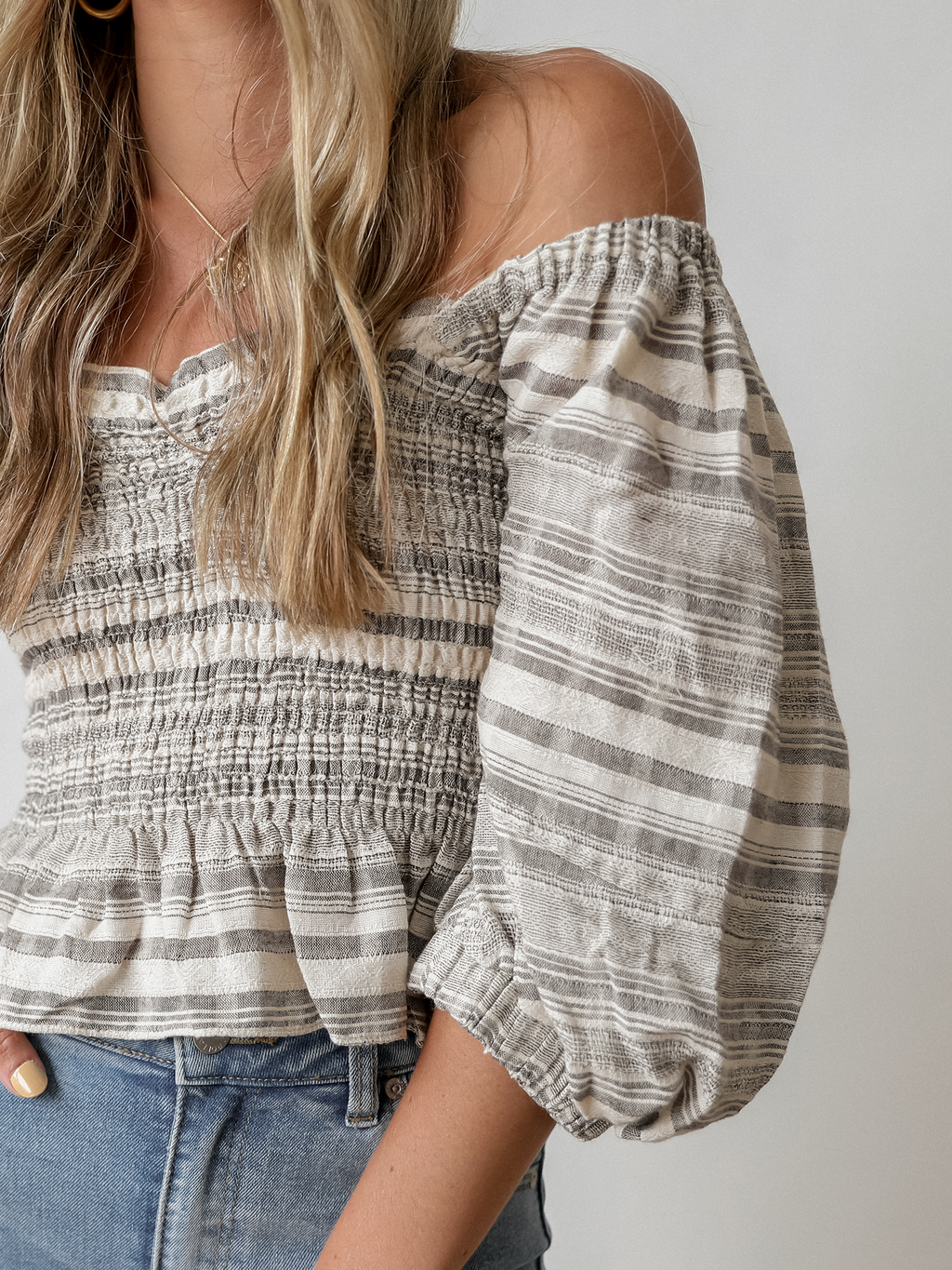Puff Sleeve Crop Top - Stitch And Feather