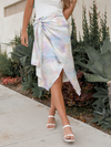 Sunset Satin Midi Skirt - Stitch And Feather