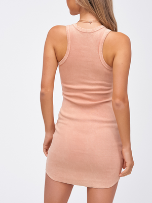 Mineral Dress in Peach - Stitch And Feather