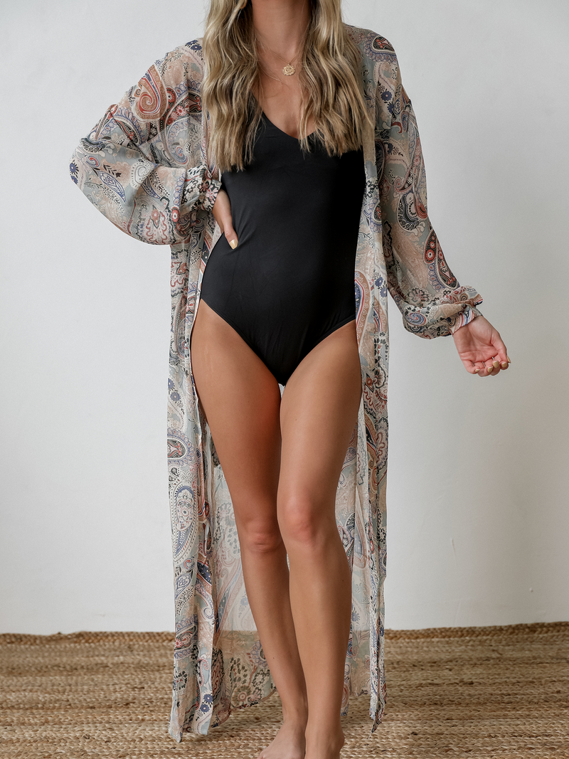 Paisley Sheer Kimono - Stitch And Feather