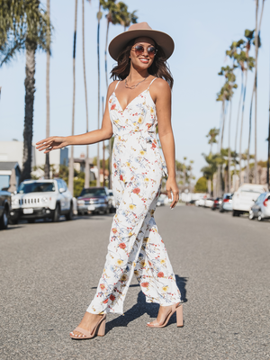 Ipanema Jumpsuit in White - Stitch And Feather