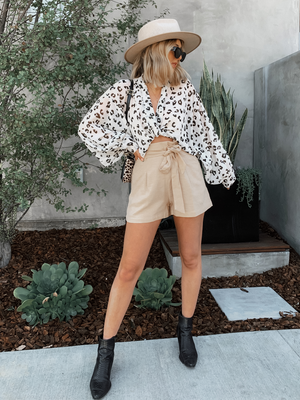 Lena Leopard Top - Stitch And Feather