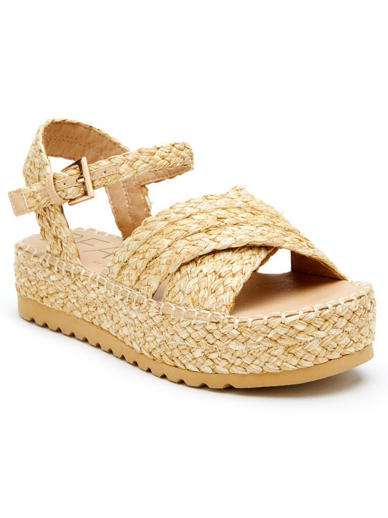 Sunshine Raffia Wedge by Matisse - Stitch And Feather