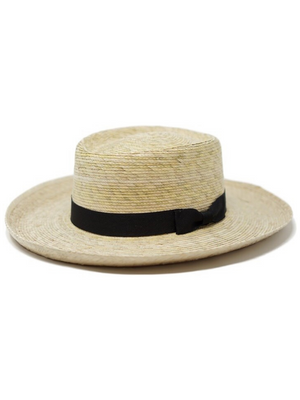 Milana Palm Straw Hat - Stitch And Feather