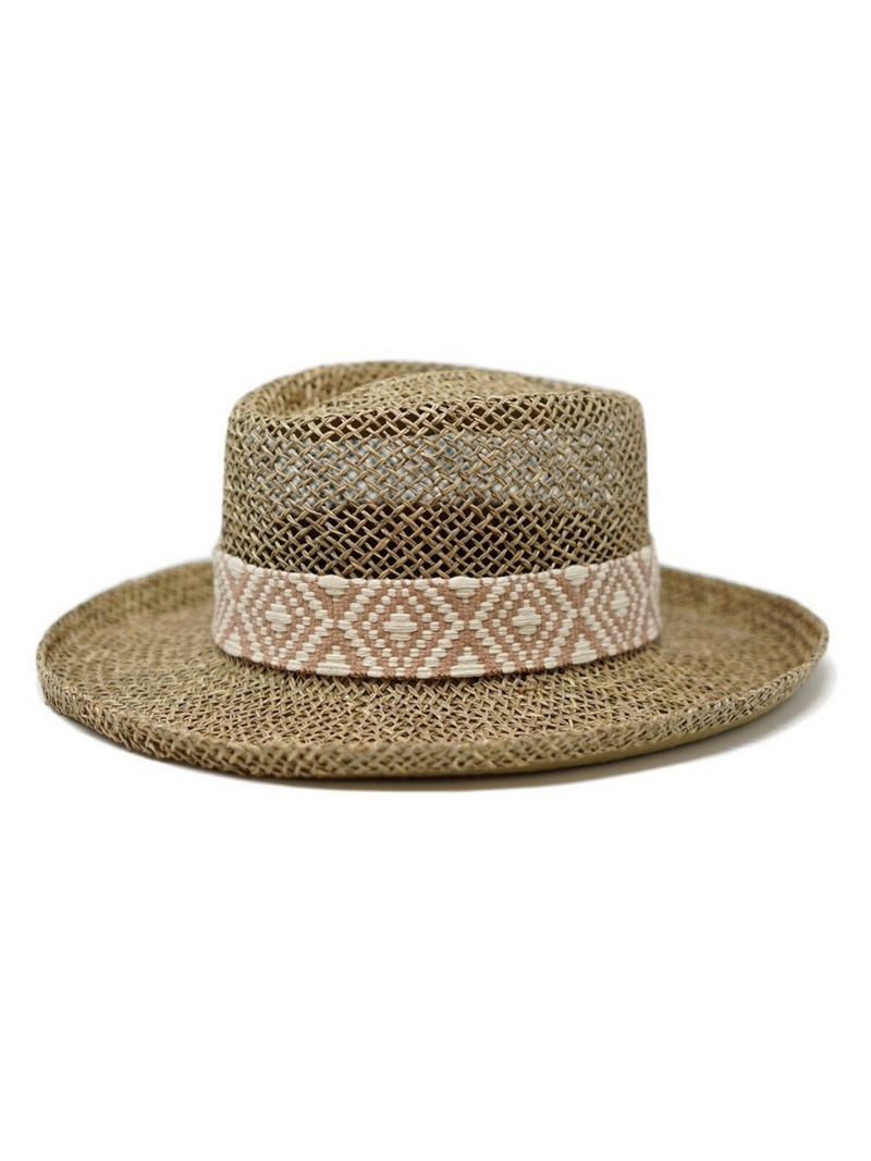 Dori Straw Boater Hat - Stitch And Feather