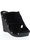 Declan Wedge in Black by Sbicca - Stitch And Feather