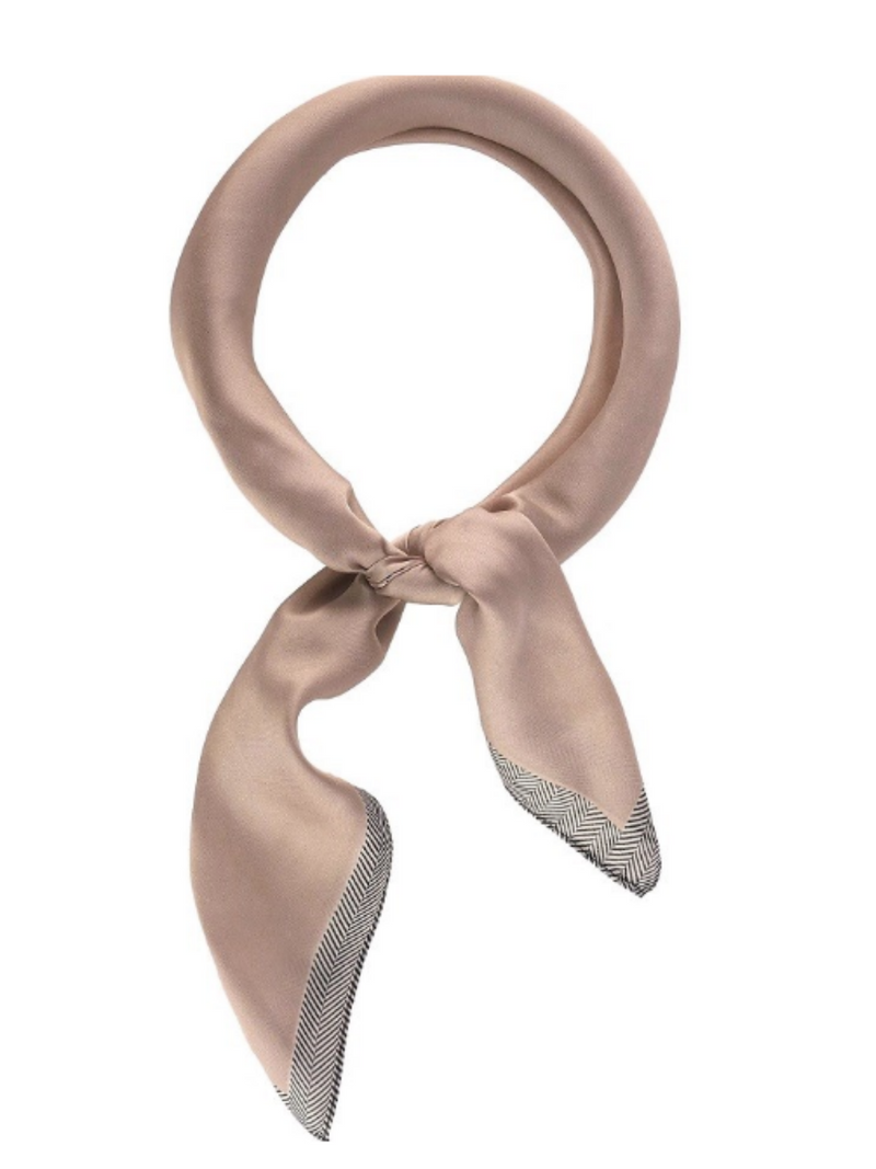 Chevron Edge Neckerchief in Rose - Stitch And Feather