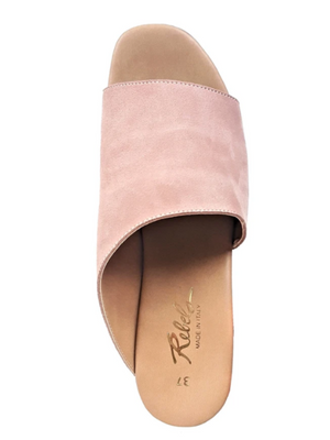 Orlanda Suede Platform Mules in Rose by Rebels - Stitch And Feather