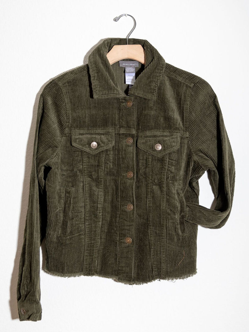 All Tucked Out Cord Jacket Olive