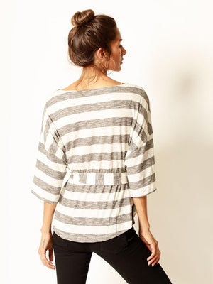 nt17928, stripe, oversize, top, dolman, casual, comfy,
