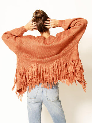 shaggy, cardigan, fringe, knit, cute, trendy, cozy, 12w14421, fall, winter